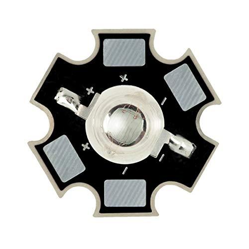 3W Componente LED de Alta Potencia, Azul Real 440nm Diodo Emisor de Luz en 20mm placa de circuito impreso PCB, Iluminación del Acuario, Crecen luces y proyectos electrónicos, 1 x LED