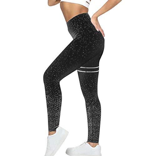Yoga legging voor dames hoog,Transparante legging voor naadloze yogabroek-black_S,Harem hippiebroek voor dames