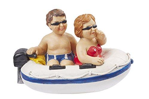 Hobbyfun Urlauber im Schlauchboot ca. 11,5 x 7,5 cm