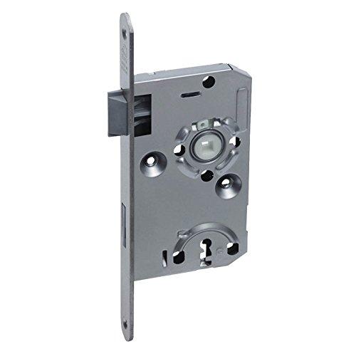 BASI® Zimmertür-Einsteckschloss DIN rechts   links ES922 Nickel silber Buntbart-Schlüssel Tür-Schloss abgerundeter Stulp, DIN links