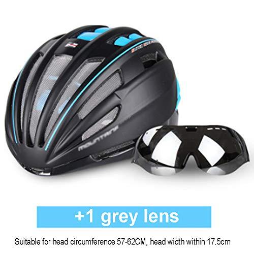 Fietshelm, Ultra-Light Goggles fietshelm Weg van de Berg MTB fietshelm In-Mold Fietshelm met zonneklep Helm voor volwassen mannen Vrouwen