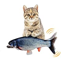 EKKONG Juguete Hierba Gatera,Juguete Interactivo, Simulación de Peces de Peluche Juguetes, Catnip Fish Toys, Juguete Electrico Automático para Gatos Gatito (Type D)