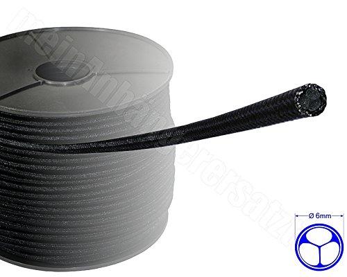 Expanderseil Gummiseil Planenseil Spannseil für Pkw Anhänger schwarz 6mm