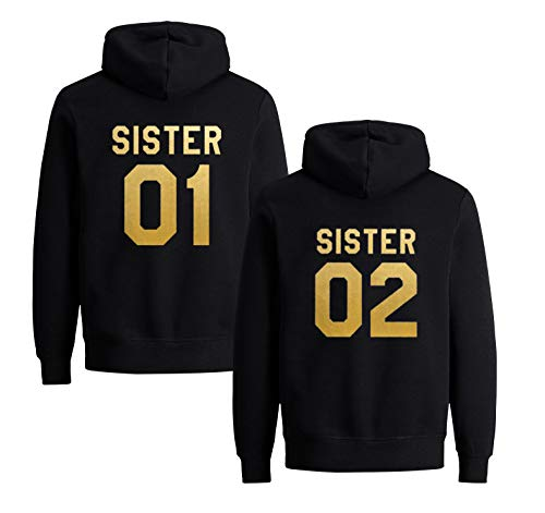 Sister hoodie Set-Best Friends migliore amica Pullover-WHITE-cvlr ®
