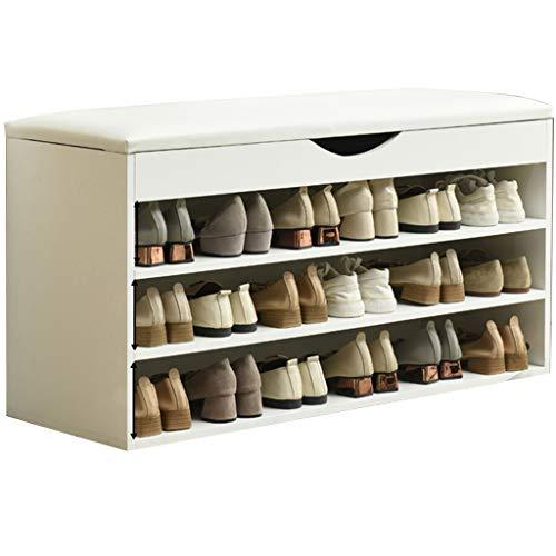 YUESFZ schoenenrekken opbergbank met zitkussen hoekbank industriële rustieke opvouwbare gestoffeerde gratis staande verwijderbare