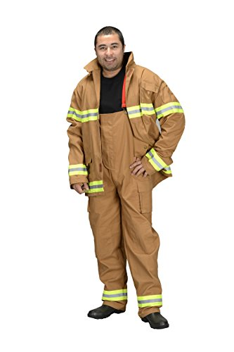 Aeromax Adult Fire Fighter Suit, Tan, Small