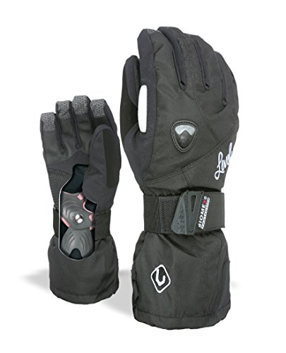Level Butterfly W Guantes, Mujer, Negro, 6.5