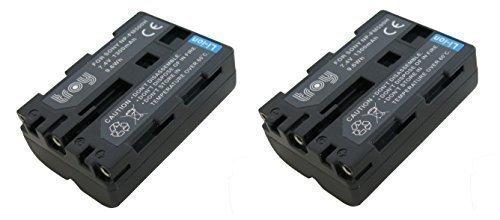 troy NP-FM500H Lot de 2 Batteries compatibles avec Sony SLT-A65, A57 Alpha 57, Alpha 65, Alpha 77, SLT-A57, Sony A200 A300 A350