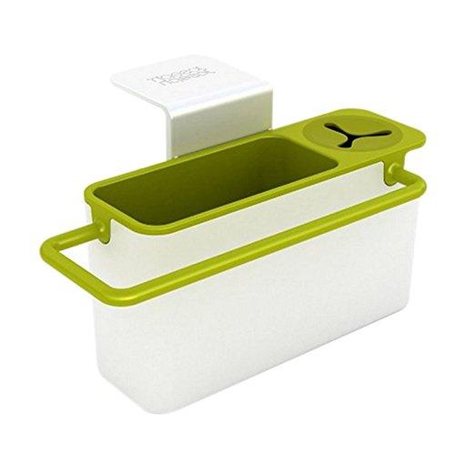 Joseph Joseph Sink-Hilfe Ordnungshelfer für das Spülbecken mit integriertem Ablauf, weiß/grün