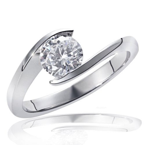 Goldmaid Damen-Ring Solitär Verlobungsring 585 Weißgold 1 Brillant 1,00 ct. Gr. 58 So R4959WG58 Ehering Trauring Schmuck