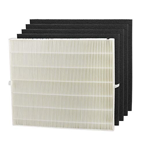 Colrofullife Replacement Filter for Coway AP1512HH Air Purifiers 3304899, 1 HEPA Filter and 4 Carbon Filters