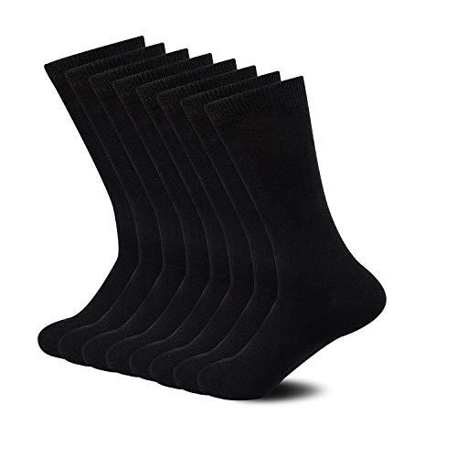 Sock Amazing Premium Bamboo Socks Black Crew Socks for Men Women 8 Pack Dress Socks Casual Socks Work Socks.