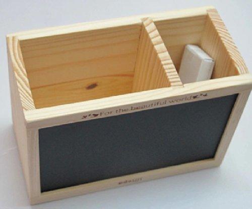 Met een houten pen kleine bord message board opbergdoos pen houten pen compacte verrekijker