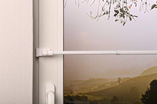 Beyond Drape gordijnroede uittrekbaar California Deluxe Pro wit 135-220 cm + klemdragers voor het ophangen van gordijnen zonder boren