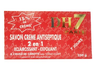 DH7 Antiseptic Soap / Skin Cleansing Soap / Cream Soap 2 In 1 With Carrot Oil 8.75Ml by DH7