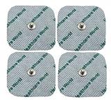 Healthcare World TENS Almohadillas Electrodos compatible con Beurer EM 40, EM 41, EM 80 50 x 50 mm, Paquete de 24