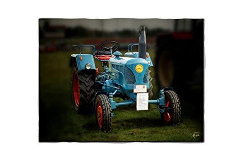 fotobar!style Fleecedecke ca. 180 x 135 cm Traktor Oldtimer Lanz Bulldog