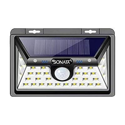 Solar Lights Outdoor, SONATA Solar Motion Sensor Light Outdoor, Upgraded 3 Optional Modes Security Motion Sensor Lights, IP65 Waterproof, 270 Degree Wide Angle LED Solar Light for Front Door, Driveway