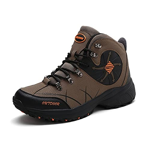 HUIXUJPN Trekking Shoes Men Waterproof Hiking Climbing Shoes Man Sports Men Durable Camping Hunting Boot Outdoor Footwear (Color : Brown, Size : 41)