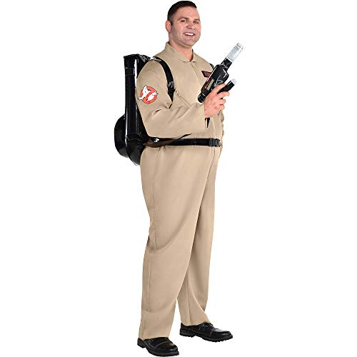 Party City Ghostbusters Halloween Costume with Proton Pack for Adults, Plus Size, with Jumpsuit and Backpack