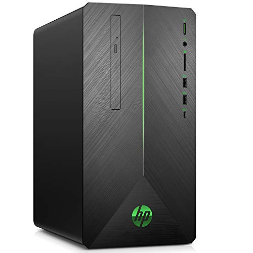 HP Pavilion 690-0513ng Gaming Desktop PC (AMD Ryzen5-2600, 256GB SSD NVMe, 1TB HDD, 16GB DDR4, Nvidia GeForce GTX 1060 6GB DDR5, Windows 10 ) schwarz / grün
