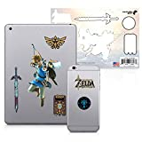 The Legend of Zelda, 6 Pack, Link Bow & Arrow Tech Decals, Waterproof Stickers for Phone, Laptop, Water Bottle, Skateboard, Vinyl Stickers for Boys and Girls