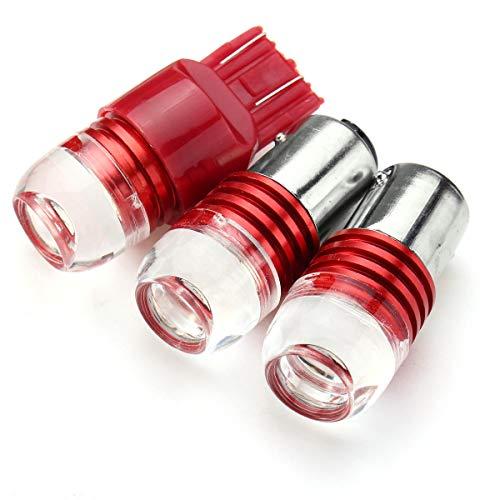 JCMYSH DIRIGIÓ Bombillas de Faros Bombilla de Luces de Giro Rojo, Bombilla de la lámpara estroboscópica de Freno de Cola para Faros de Coche (Color : 1156)