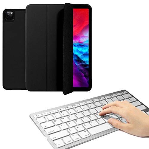 drolpt Funda de teclado para iPad Pro 12.9 2020/2018 Multi Fold de piel sintética Smart Cover para iPad Pro 4ª generación 12.9 Funda Capa (color : teclado negro, tamaño: Pro 12.9 2018)