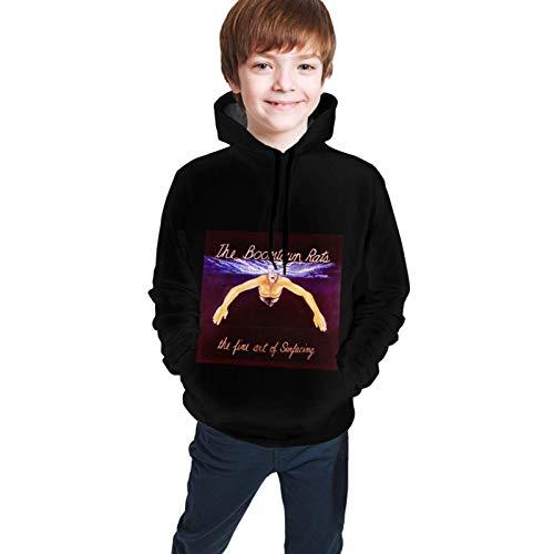 huatongxin Boomtown Rats Die Kunst des Auftauchens von Jungen Mädchen Hoodies für Kinder 3D-Drucke Lässige Pullover-Sweatshirts mit Tasche für 6-16 Jahre