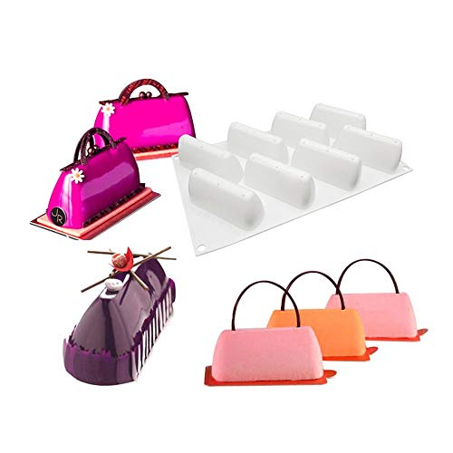 xiaoshenlu Mousse-Kuchenform Silikon Backform - 3D Backformen DIY Mold für Muffins, Brownies, Cupcake, Hochzeit, Kuchen, Pudding, Schokolade, Seife, 9 Löcher Berggipfel, weiß