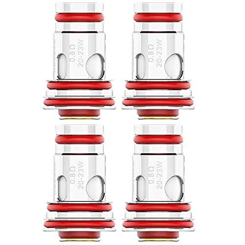 Uwell UN2 Meshed-H Coils (0,8 Ohm), Aeglos MTL Verdampferköpfe für e-Zigarette, 4 Stück