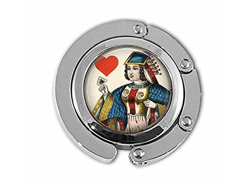 Queen of Hearts Spielkarten-Aufhänger – Vintage Spielkarten-Schmuck – Queen of Hearts – Kartenspieler-Geschenk – Glücksspiel