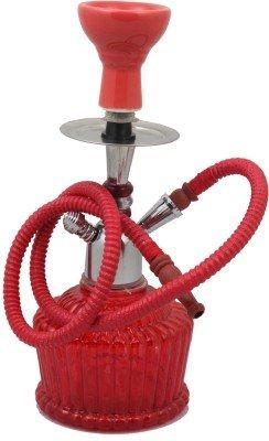 JaipurCrafts Cachimba de 15 pulgadas (rojo)
