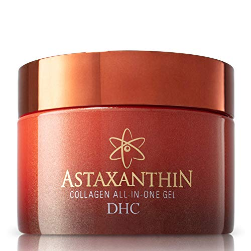 DHC Astaxanthin Collagen All-in-One Gel, Brightening Daytime Facial Moisturizer, Lightweight, Toning, Hydrating, Absorbs Quickly, Collagen, Fragrance and Colorant free, Ideal for all Skin Types