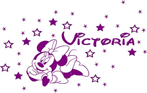 Autocollant personnalisé Minnie Mouse Décoration murale, Chambre d'enfants.