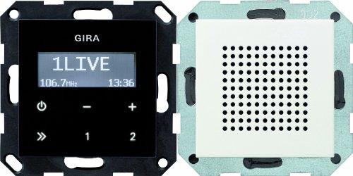 Gira 228027 Unterputz Radio RDS System 55, reinweiß matt