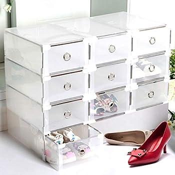 XZDXR Caja De Almacenamiento, 3 Botas Apilables Transparentes, Unidad De Almacenamiento De Caja De Zapatos para Botas Altas hasta La Rodilla/Botines: Amazon.es: Hogar