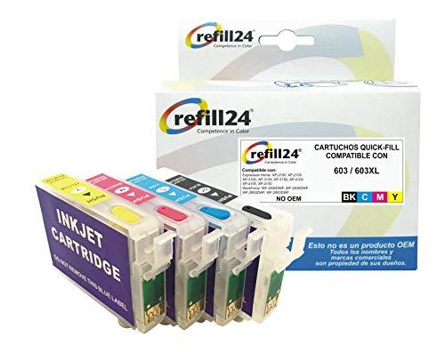 Cartuchos Recargables Epson Xp 3100 cartuchos recargables epson xp  Marca refill24