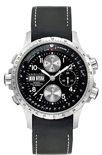 Gifts and Jewels Co. Hamilton Hamilton X-Wind Nero Quadrante Cronografo Mens Orologio H77616333