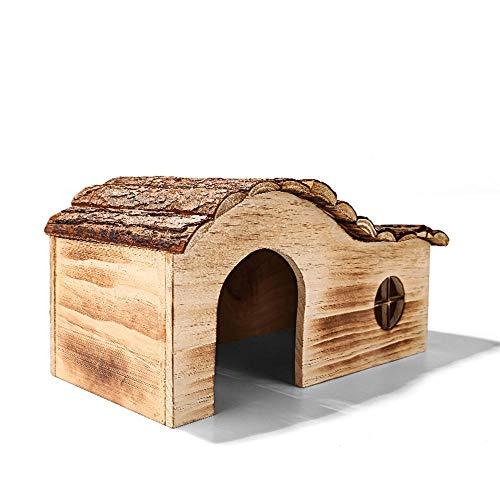 KUNY EichhöRnchenhaus Balkon, Hand Gefertigt EichhöRnchennest Mit Wellendach Aus Holz 40 * 21 * 20.5cm