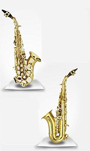 XIE@ Si bemol para aumentar el tono del saxofón niños pequeños tipo de tela de saxofón de viento de madera de agudos con un cepillo de limpieza con guantes acolchados grasa para corcho