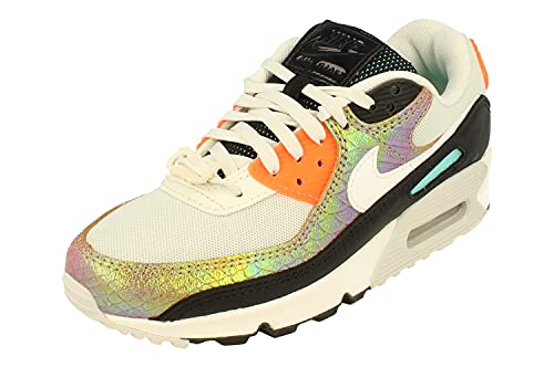Nike Mujeres Air MAX 90 Running Trainers CW2656 Sneakers Zapatos (UK 2.5 US 5 EU 35.5, Light Bone Sail Hyper Crimson 001)