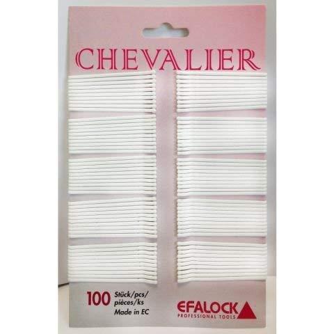 Efalock Haarklammern Chevalier 5 cm weiß, 100 Stück