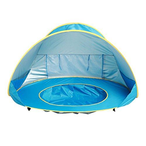 YIJU Tenda de Praia para Bebês com Dossel de Proteção UV com Toldo para Proteção Solar de Piscina com Sombra