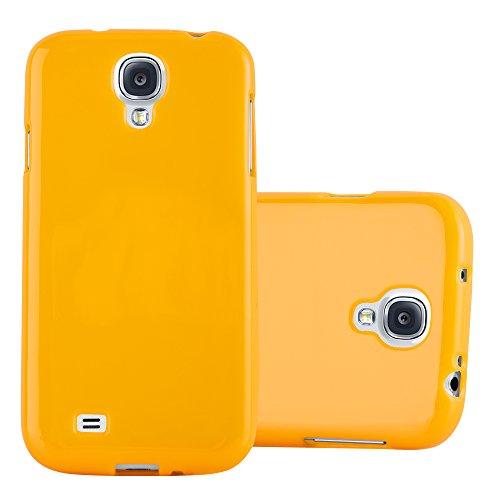 Cadorabo Funda para Samsung Galaxy S4 en Jelly Amarillo - Cubierta Proteccíon de Silicona TPU Delgada e Flexible con Antichoque - Gel Case Cover Carcasa Ligera