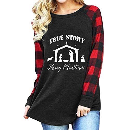 Forther True Story Shirt, Women Long Sleeve Buffalo Plaid Christmas Funny Graphic Tops Shirt