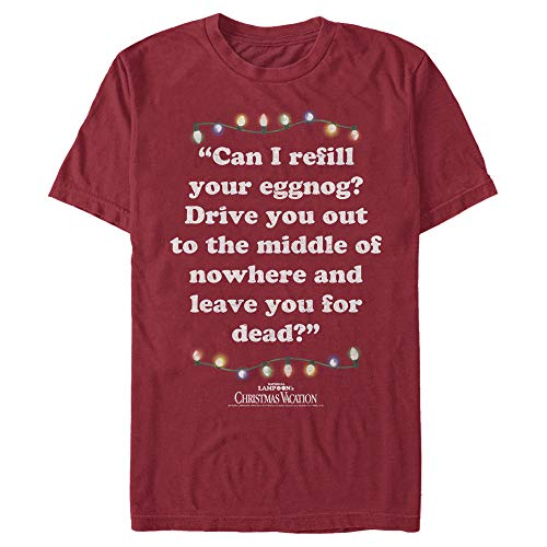 Men's National Lampoon's Christmas Vacation Leave You for Dead Quote T-Shirt - Cardinal - X Large