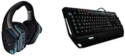 Logitech G933 Cuffia Wireless con Microfono per PC/Xbox One/PS4, Audio Surround 7.1, Nero + Logitech G910 Tastiera per Giochi Meccanica RGB, Orion Spectrum, Layout Internazionale - Trova i prezzi più bassi