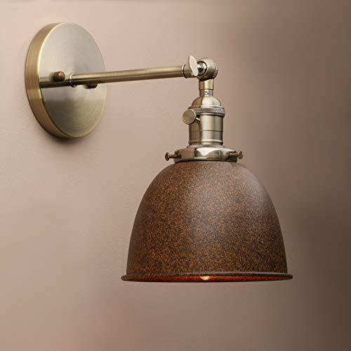 Yosoan Wandleuchte Antik Deko Design innen Wandbeleuchtung Vintage Industrie Loft-Wandlampen Wandbeleuchtung (Nachahmung Rost)