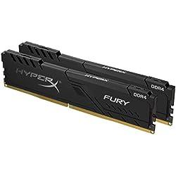 HyperX FURY Black HX426C16FB3K2/16 Memoria 16GB Kit (2x8GB), 2666MHz DDR4 CL16 DIMM, 1Rx8